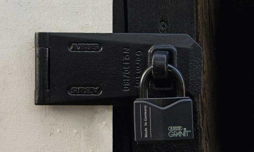 ABUS black padlock