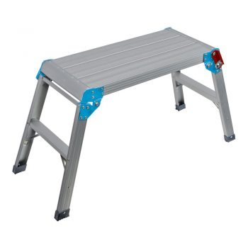 Aluminum fold-out work platform