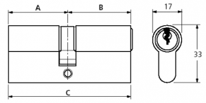 How to measure a cylinder lock diagram