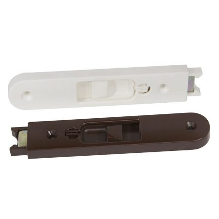 Top Sash Tilt Latches (Type A) shown in white and brown colours