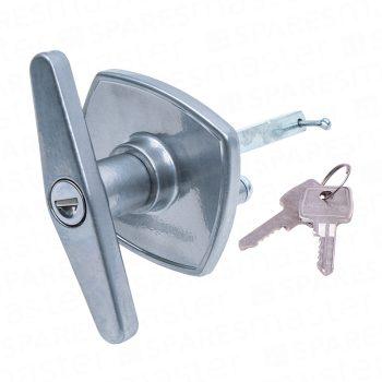 Universal 'T' garage door handle in silver CPS2020