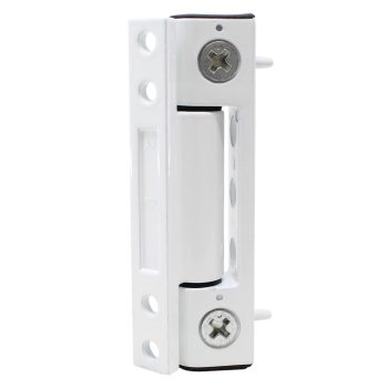 Top view Yale Neon adjustable butt hinge in white